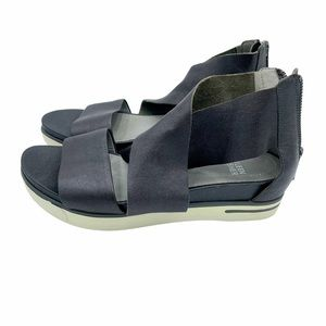 Eileen Fisher Sport Platform Sandal Metallic Suede